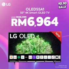 10.10 Best Deals Promotion LG 55 inch A1 4K Smart SELF-LIT OLED TV with AI ThinQ OLED55A1PTA